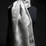 Silver Lace Stole (Silver Blue)