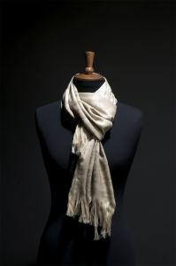Silver Lace Scarf (Gold Stone)